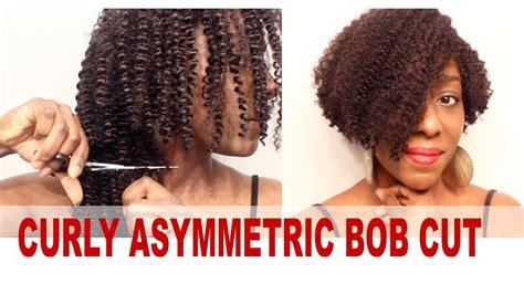 kinky bobs wig tutorial the kinky curly asymmetric bob cut sunny