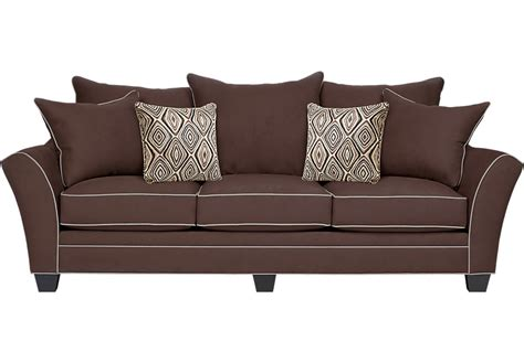 Accent Home Decor by Aberdeen Chocolate Sofa Sofas Brown