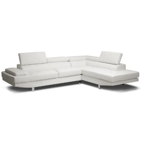 sectional issues baxton studio selma leather modern sectional sofa white 2017