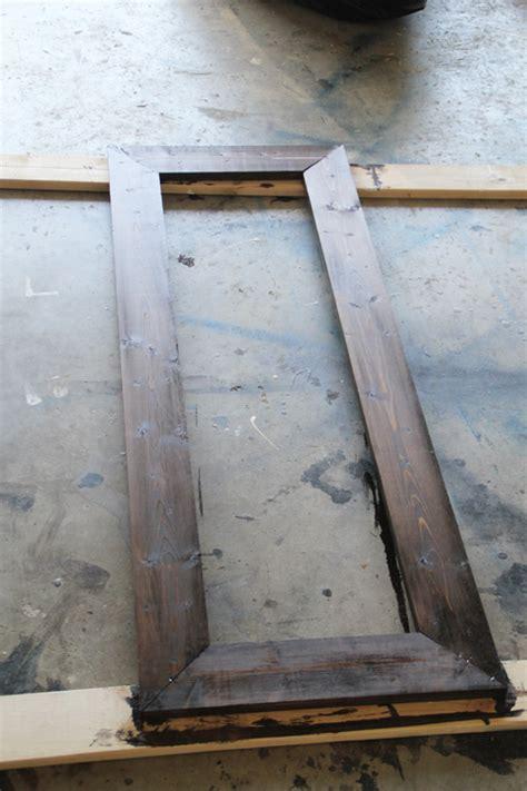 diy framed mirror tutorial 15 diy mirror shanty 2 chic