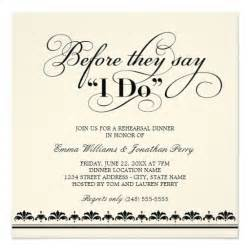 white wedding invitations wedding rehearsal dinner invitations