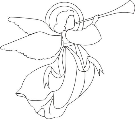 angel coloring page christmas pinterest coloring