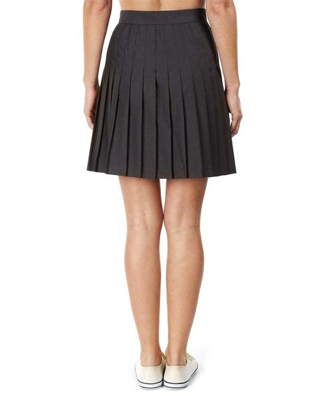 american apparel pleated school skirt in charcoal
