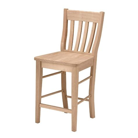 Unfinished Wood Bar Stool International Concepts 24 In Unfinished Wood Bar Stool S 6162 The Home Depot