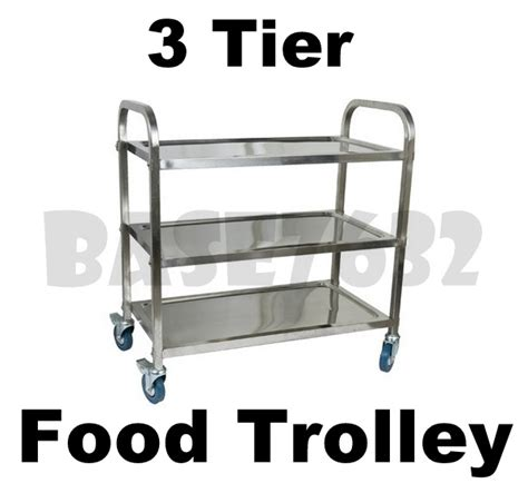 Kitchen Island Trolley Malaysia Restaurant Cafe Dining 3 Tier Stainless Steel Food Kitchen
