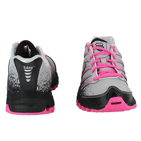 Gray Pink Jillian by Kswiss Run Jillian Gray Black Pink Womens