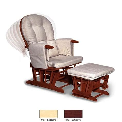 glider adjustable recliner glider with ottoman
