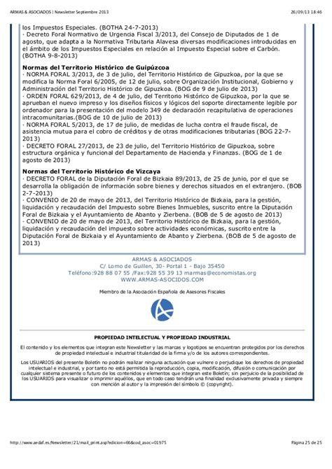 decreto foral 2721998 de 21 de septiembre por el que se armas asociados newsletter septiembre 2013