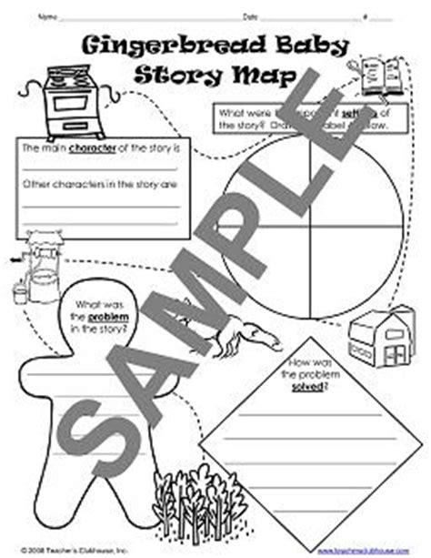 gingerbread story map template author studies resources from s clubhouse
