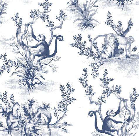 Monkey Upholstery Fabric by Cymepaye Monkey Toile Closeup