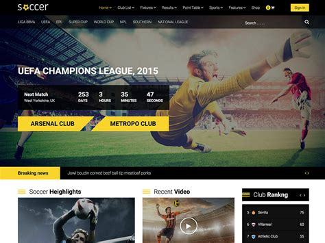 wordpress theme center layout 20 best sports wordpress themes 2018 athemes