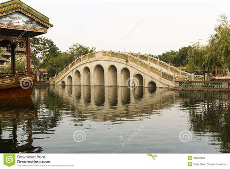 Asian Arch Bridge In Chinese Garden Stock Photo Image Bridge Traditional