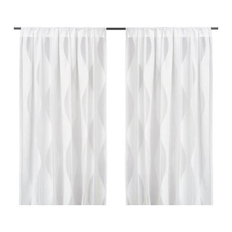 White Curtains Ikea Murruta Lace Curtains 1 Pair Ikea