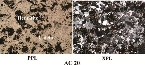 hematite in thin section 12 photograph of high amounts of hematite present in