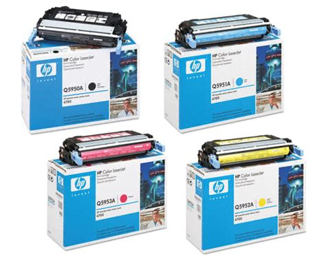 Toner Q5950a 4 color set of toner cartridges part q5950a q5951a q5952a q5953a