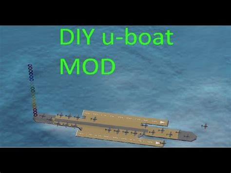 u boat aircraft carrier diy u boat aircraft carrier mod youtube