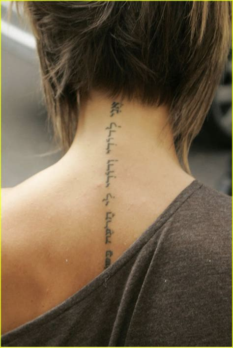 k tattoo on neck posh s neck tattoo photo 273671 david beckham victoria