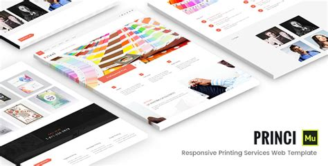 Princi Responsive Printing Services Web Template Themekeeper Com Responsive Static Website Templates