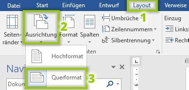 word layout querformat word eine seite querformat einstellen einfach erkl 228 rt