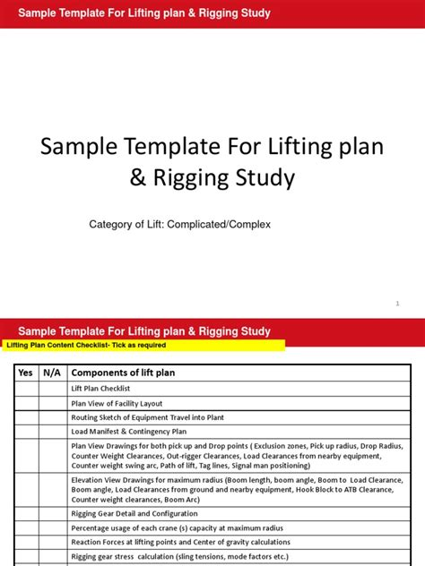 Lifting Plan Template Doc Calendar Doc Crane Lift Plan Template