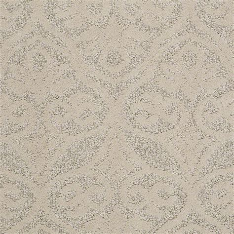 platinum plus perfectly posh color almond bark pattern 12 ft carpet hdd9494122 the home depot