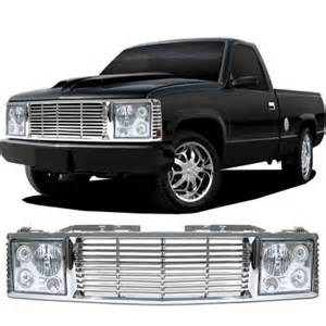 chevy tahoe 1995 1999 chrome billet grille and headlight