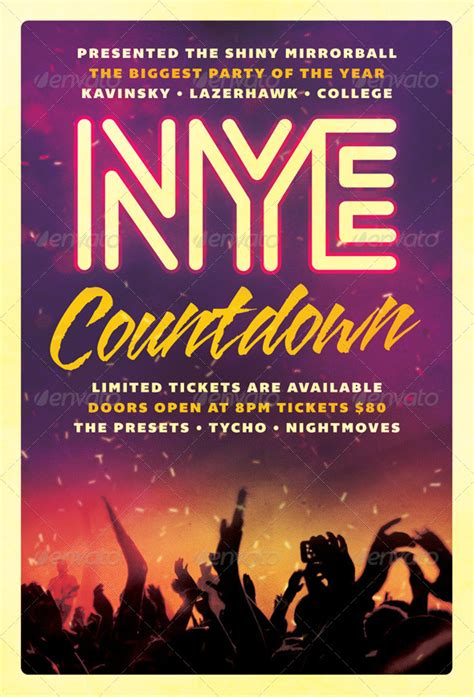 Countdown New Years Eve Flyer By Furnace Graphicriver Countdown Poster Template