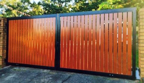 double swing gates black aluminium frame  aliwood