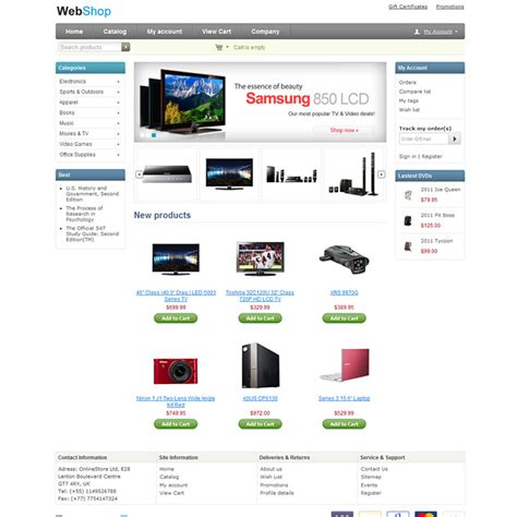 free html shop template free cs cart theme free cs cart skin