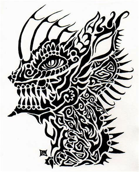 hellhound tattoo tribal hellhound by lutamesta on deviantart