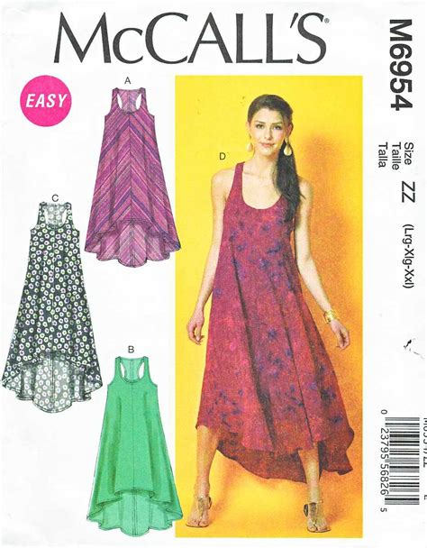 pattern simple summer dress mccalls sewing pattern 6954 misses size 16 26 easy
