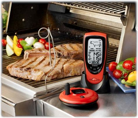 Backyard Grill Thermometer by Oregon Scientific Aw131 Talking Wireless Bbq Oven Thermometer Patio Lawn Garden