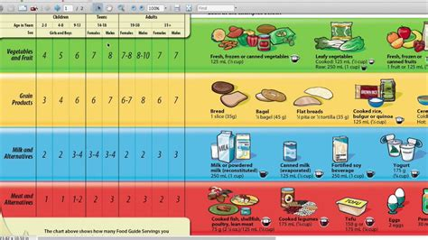 Printable Version Canada S Food Guide | lesson 3 canada s food guide on vimeo