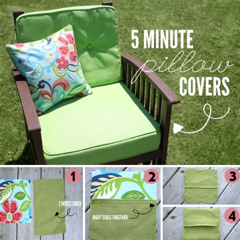 how to make sofa pillow covers make your own pillow covers in 5 minutes diy home things