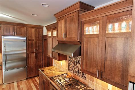 quarter sawn oak cabinets thumb kitchen shaker style quartersawn oak recessed