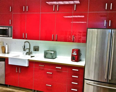 ikea red kitchen cabinets ikea abstrakt red