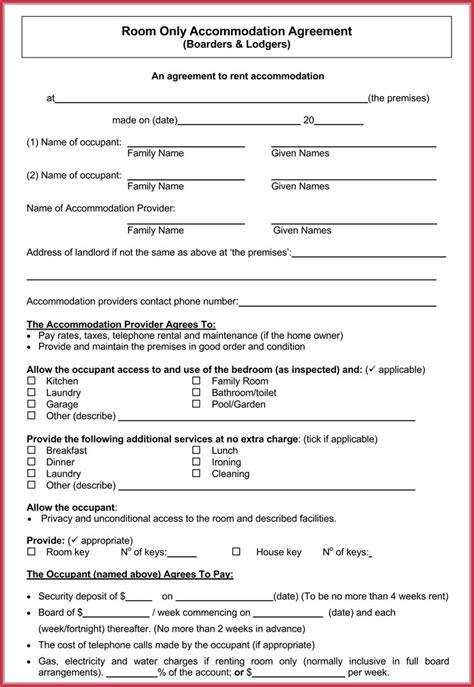 room rental agreement  samples  write perfect room