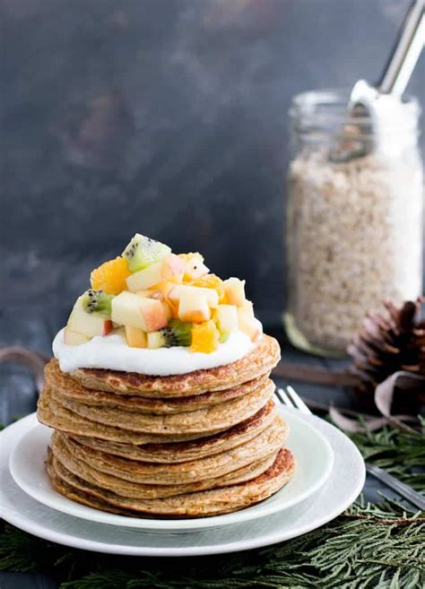 Oatmeal Cottage Cheese Protein Pancakes The Merchant Baker Protein In Cottage Cheese
