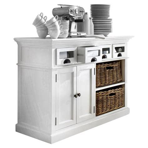 halifax kitchen buffet table white dcg stores