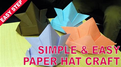 How To Make A Simple Paper Hat - and easy trick for your how to make a paper hat with