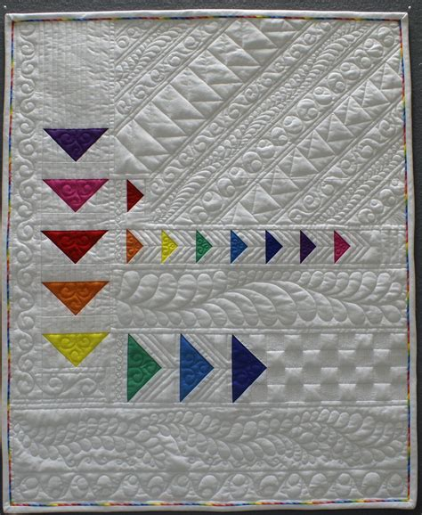 quilt design inspiration rainbow flying geese quilt by brenda roach photo by the