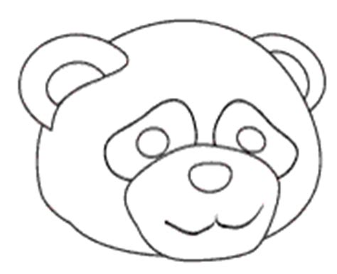 bear mask coloring page girl bear mask colouring pages