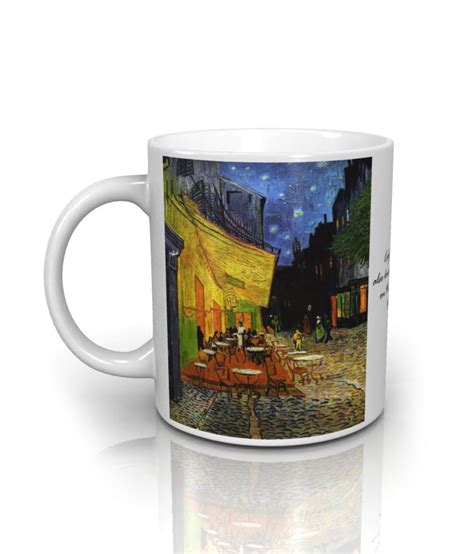 Memobottle A6 350 Ml Tanparant seven rays the cafe terrace by vincent gogh mug 350 ml buy at best price in india
