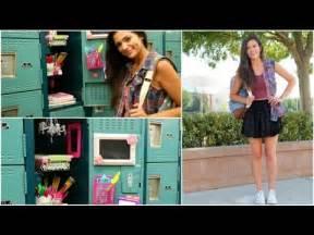 Back to school locker organization diy decorations youtube