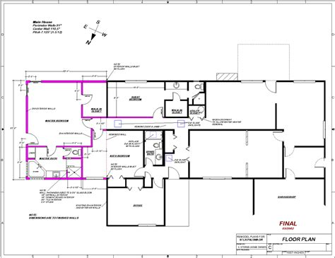 home addition blueprints the addition