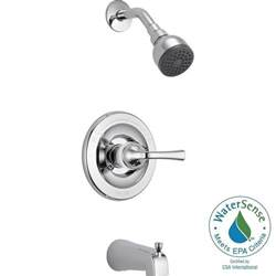 delta 3 handle shower faucet delta foundations single handle 1 spray tub and shower