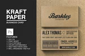 kraft paper business card kraft paper business card business card templates creative market