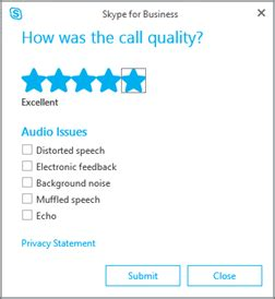 skype4b features: rate my call the skype for business