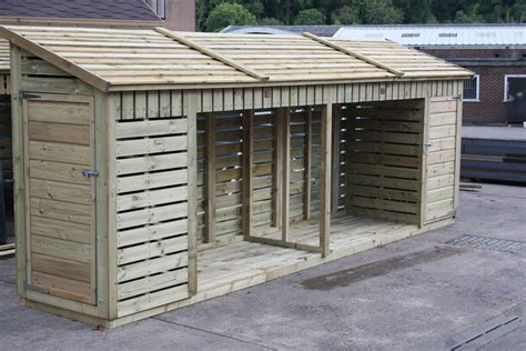 how to build a shop wooden log store 3ft x 3ft waltons pressure treated