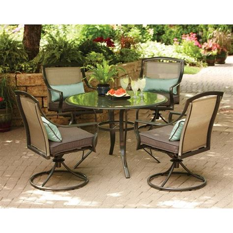 aqua glass 5 patio dining set seats 4 home